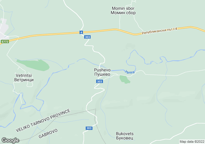 Map for Pushevo, Veliko Tarnovo
