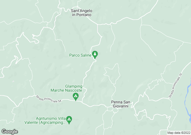 Map for Villa Splendida, Penna San Giovanni, Le Marche, Macerata