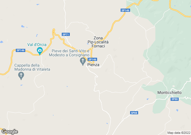 Map for SP18, Pienza, Tuscany