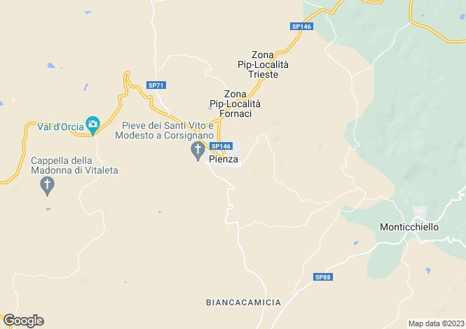 Map for Tuscany, Siena, Pienza