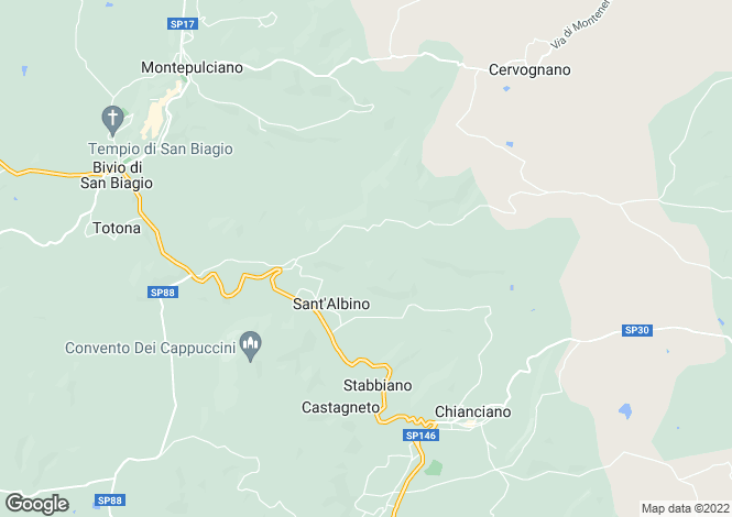 Map for Montepulciano, Siena, Tuscany