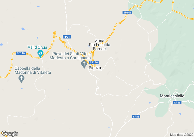 Map for Tuscany, Siena, Pienza