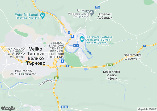 Map for Veliko Tarnovo, Veliko Turnovo