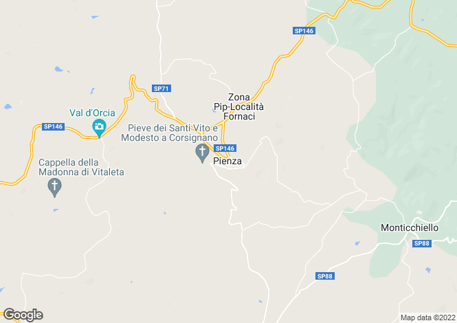Map for Tuscany, Siena, Montalcino