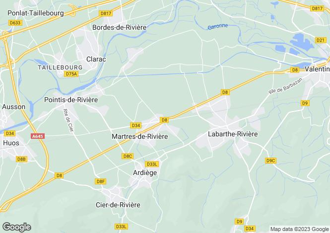 Map for martres-de-riviere, Haute-Garonne, France