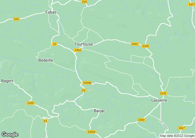 Map for Midi-Pyrenees, Ariège, Tourtouse
