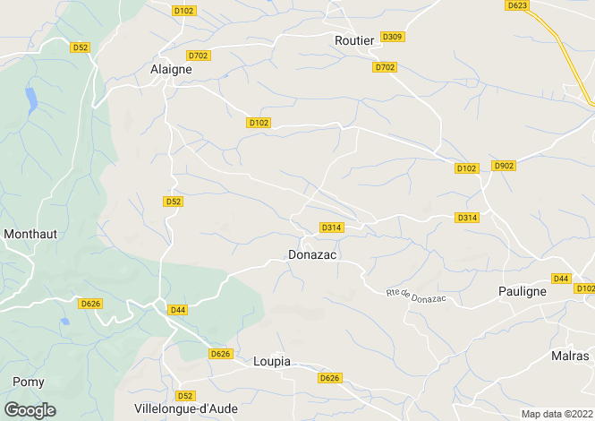 Map for Languedoc-Roussillon, Aude, Donazac