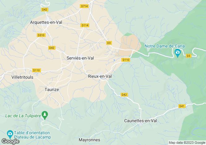 Map for Languedoc-Roussillon, Aude, Rieux-en-Val