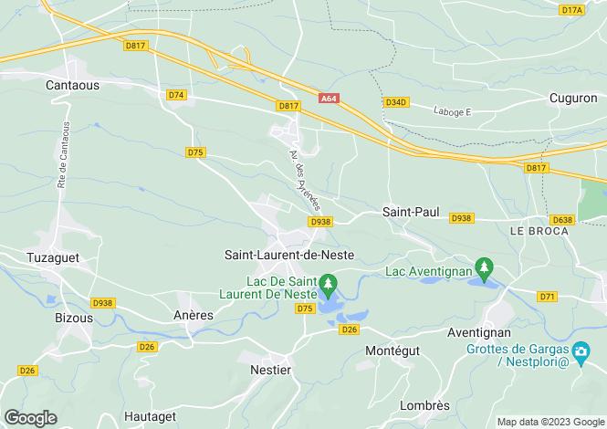 Map for st-laurent-de-neste, Hautes-Pyrénées, France