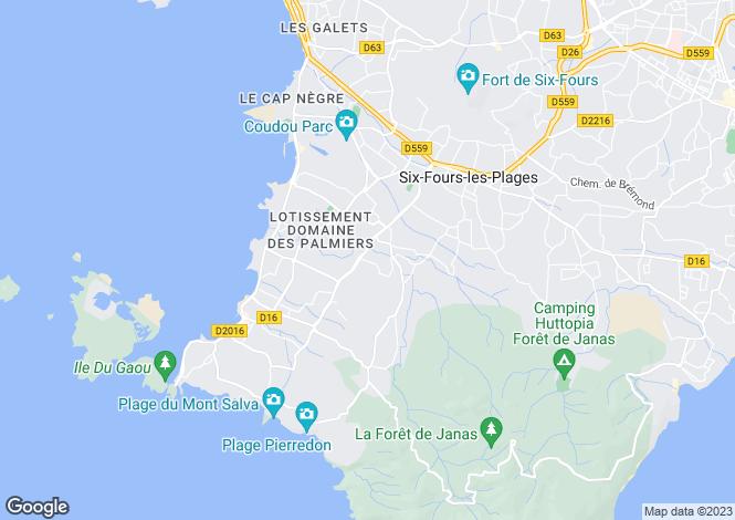 Map for Six-Fours-les-Plages, Var, Provence-Alps-Cote d`Azur