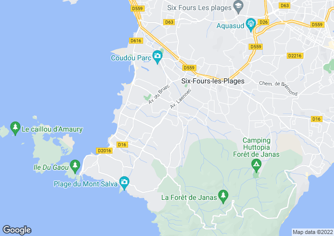 Map for Six-Fours-les-Plages, Var, Provence-Alps-Cote d`Azur