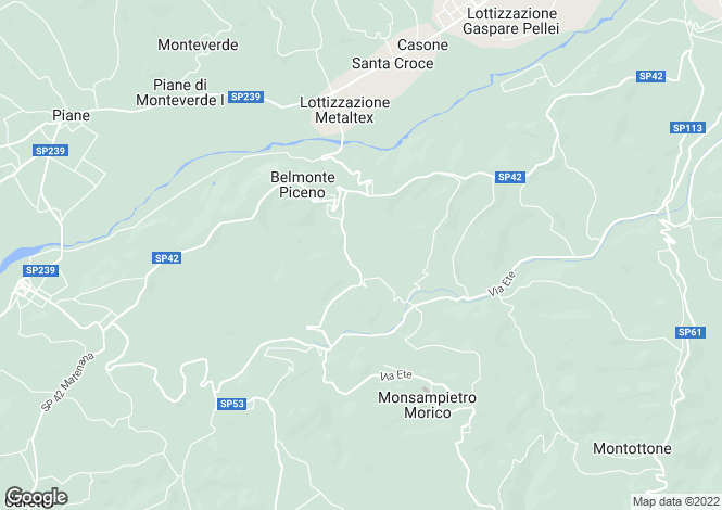 Map for Sant'angelo In Pontano, Le Marche, Italy