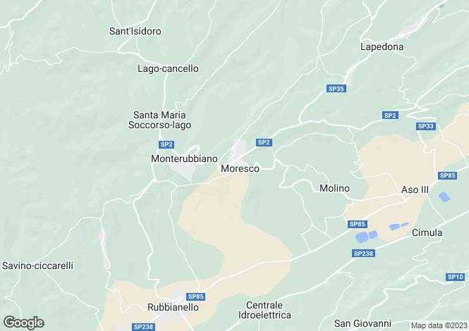 Map for Le Marche, Fermo, Moresco