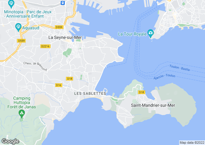 Map for tamaris-sur-mer, Var, France
