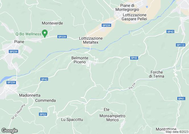 Map for Le Marche, Fermo, Belmonte Piceno