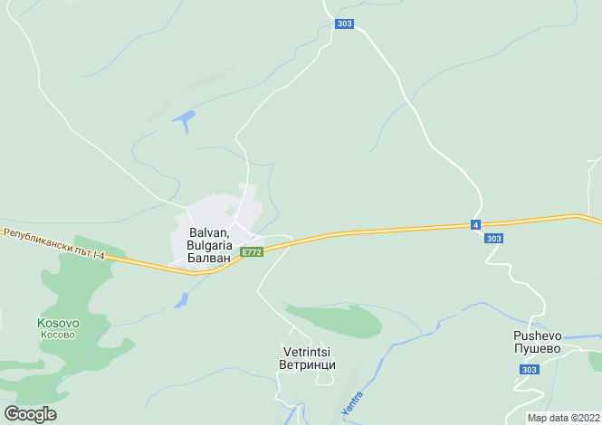 Map for Balvan, Veliko Tarnovo