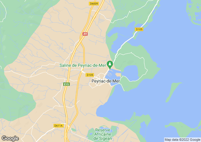 Map for Narbonne, Aude, Languedoc-Roussillon