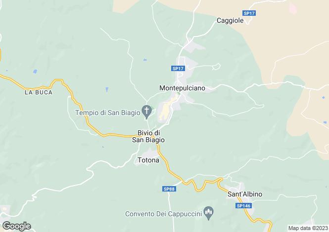 Map for Tuscany, Siena, Montepulciano