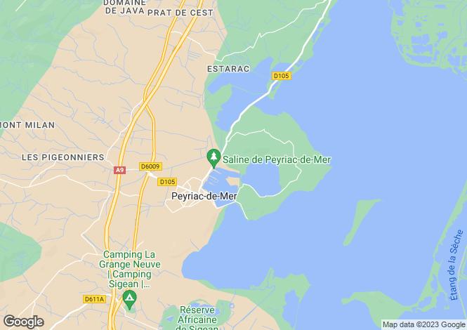 Map for Luxury Villas, Peyriac-De-Mer, Languedoc