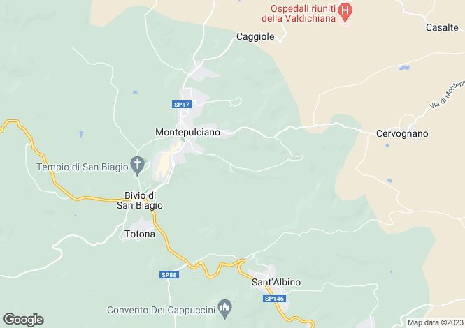 Map for Montepulciano, Siena, Tuscany