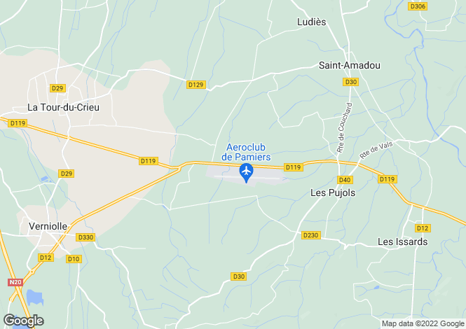 Map for Near Pamiers, Ariege, South Of France