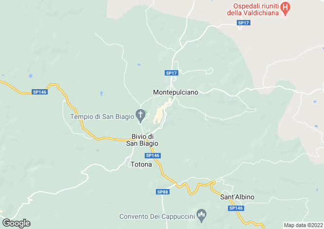 Map for Montepulciano, 53045, Italy