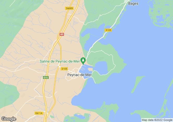Map for Peyriac-de-Mer, Aude, Languedoc-Roussillon
