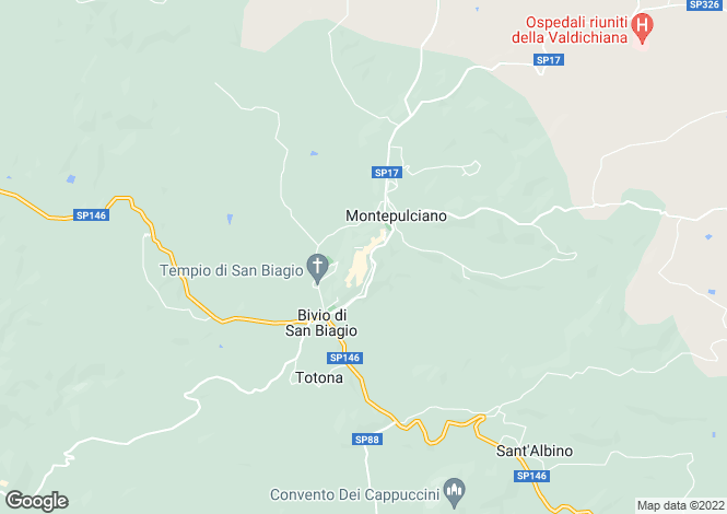 Map for Tuscany, Siena, Montepulciano