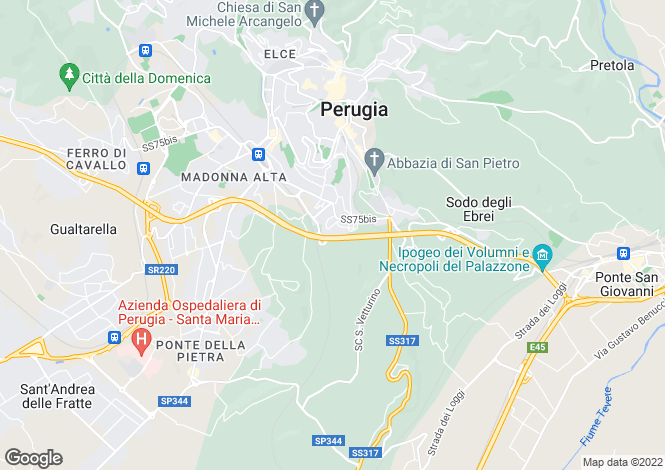 Map for Umbria, Perugia, Perugia