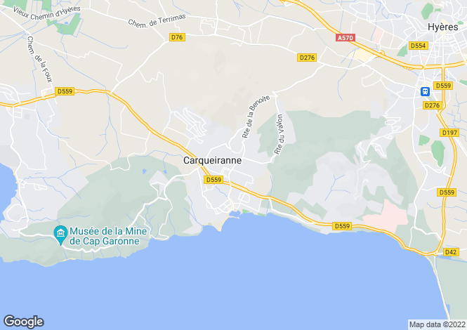 Map for CARQUEIRANNE, Provence Coast, Provence - Var,