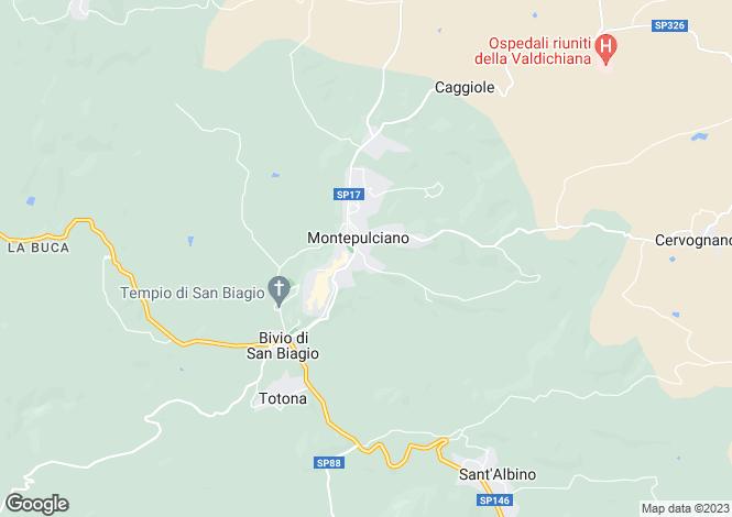 Map for Via dello Stadio, Montepulciano, Tuscany