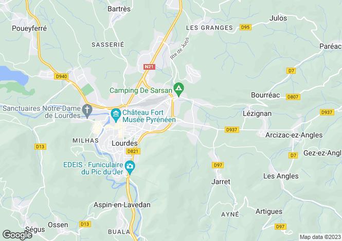 Map for lourdes, Hautes-Pyrénées, France