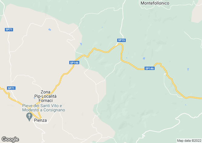 Map for Montepulciano, Pienza