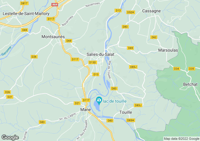 Map for Salies-Du-Salat, Midi-Pyrenees, France