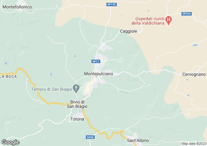 Map for Via Elio Bernabei, 35, Montepulciano, Tuscany