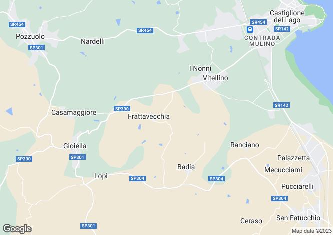 Map for Villa Bigi, Pozzuolo, Umbria, Italy