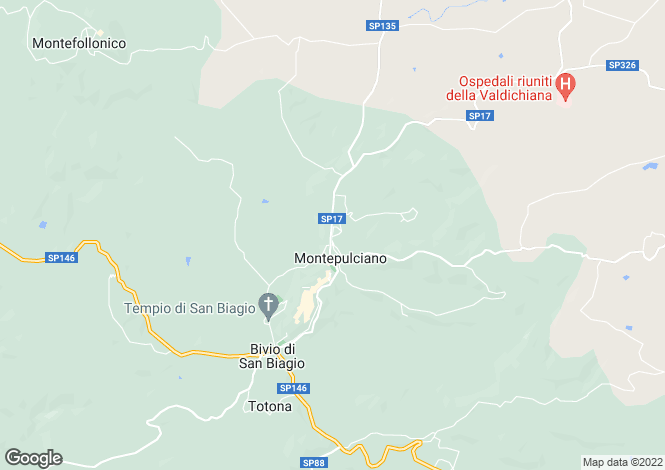 Map for Via Duccio Galimberti, Montepulciano, Tuscany