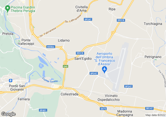Map for Umbria, Perugia