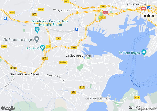 Map for La Seyne-Sur-Mer, Var, 83500, France
