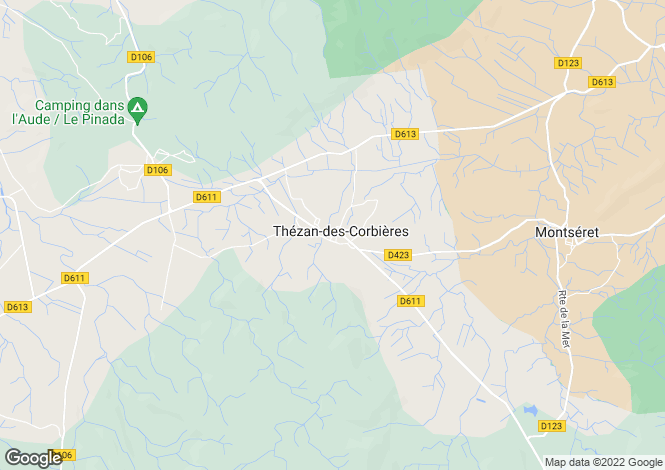 Map for THEZAN DES CORBIERES, Languedoc-Roussillon