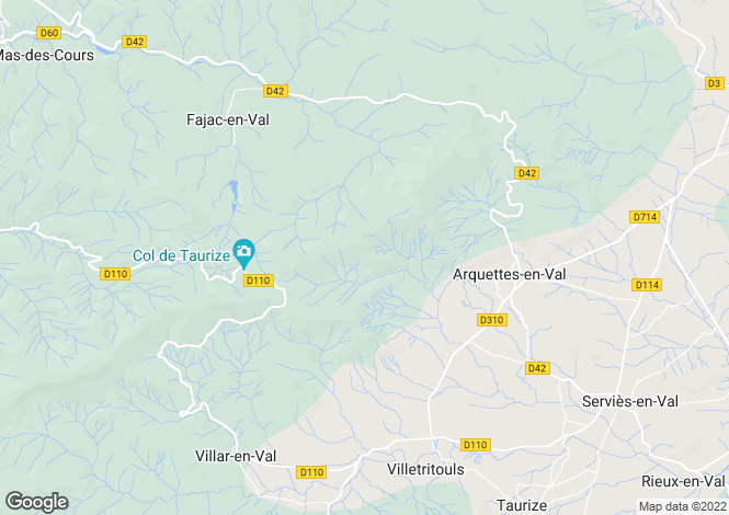 Map for tourouzelle, Aude, France