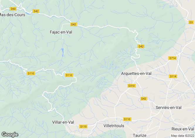 Map for escales, Aude, France