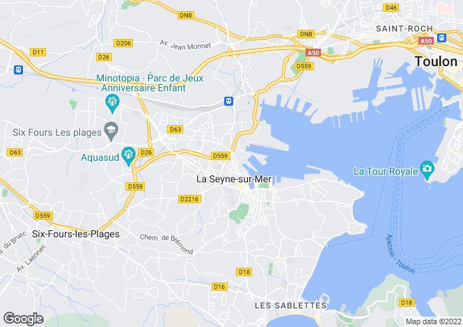 Map for LA SEYNE SUR MER, Provence Coast, Provence - Var,