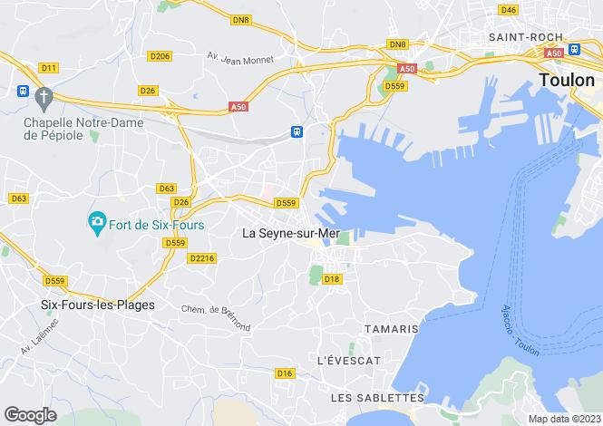 Map for La Seyne-sur-Mer, Var, Provence-Alps-Cote d`Azur