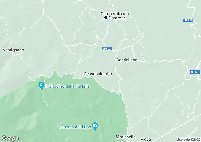 Map for Cessapalombo, Macerata, Le Marche