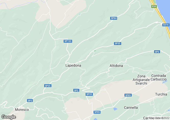 Map for Lapedona, Fermo, Le Marche