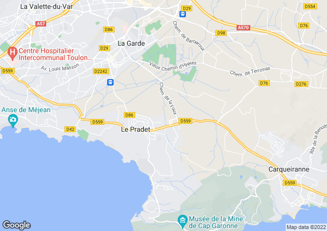 Map for LE PRADET, Provence Coast, Provence - Var,