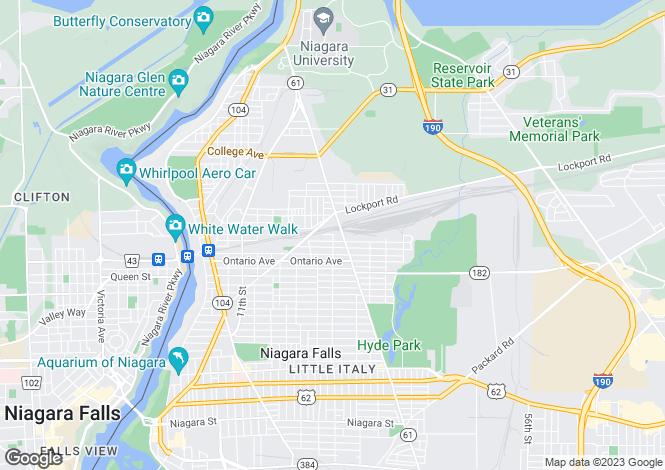 Map for Niagara Falls, Niagara County, New York