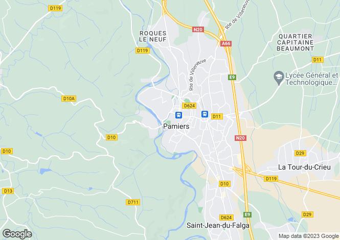 Map for Secteur: Pamiers, Ariège