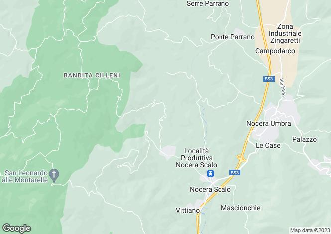 Map for Assisi, Perugia, Umbria